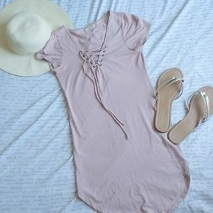Fitted Lace-Up Dress